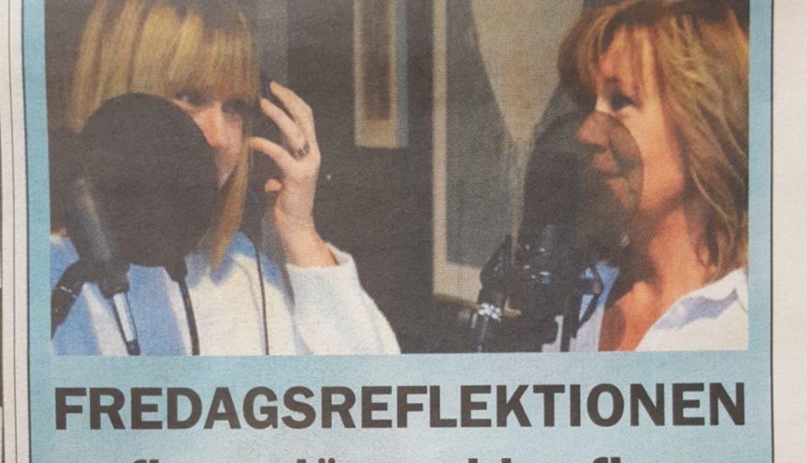 Inspelning av Fredagsreflektionen med Ulrika Danneryd Gustafsson och Anette Wikström