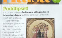 Tidningen Hälsa skriver om Podden om välmående och balans i vardagen